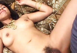 Dark unshaved Indian Gash Taking Big Milky Man meat