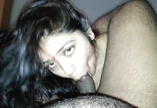 Nasty gujjurati bhabhi providing Blow job to Hubby